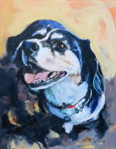 Painting - Beagle Portrait by Donna Tuten