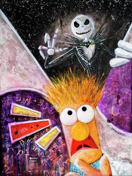 Skellington Painting - Beaker's Nightmare Before Xmas by Darren Gideon