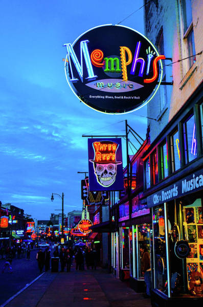 Photograph - Beale Str. Blues  by D Justin Johns