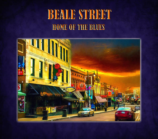 Beale Street - Home Of The Blues Art Print