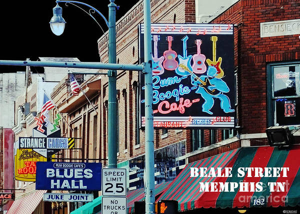 Photograph - Beale Street Memphis Tn by Lizi Beard-Ward