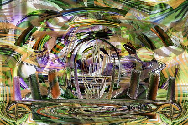 Digital Art - Beaming Down by rd Erickson