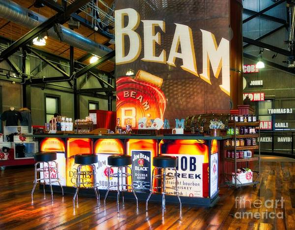 Photograph - Beam's Bourbon Bar by Mel Steinhauer
