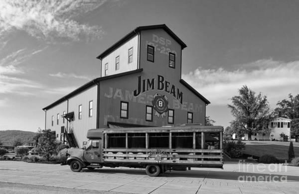 Photograph - Beam's Bourbon Showplace Black And White by Mel Steinhauer