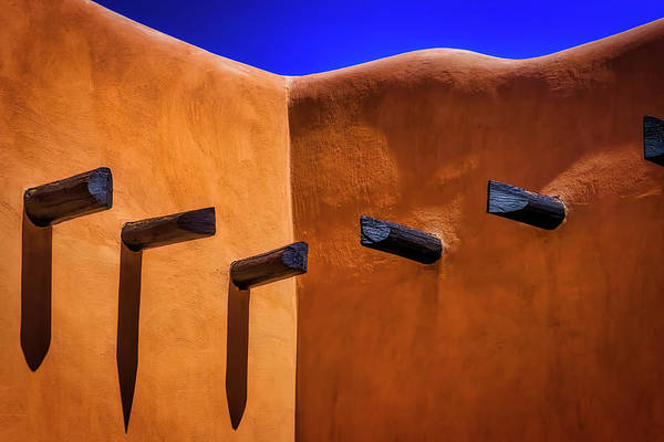 Adobe Photograph - Beams In Adobe Wall by Garry Gay