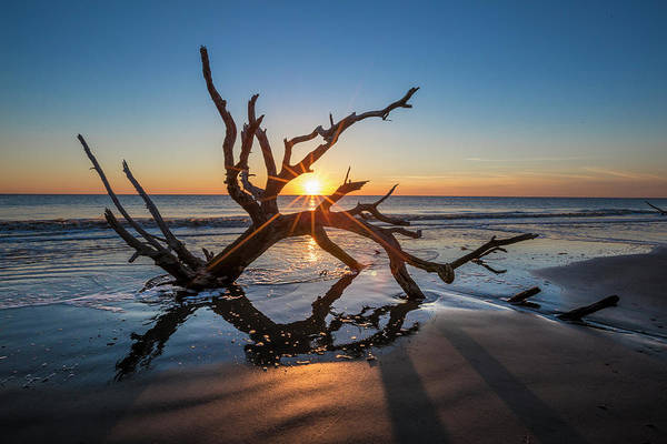 Photograph - Beams On The Beach by Debra and Dave Vanderlaan