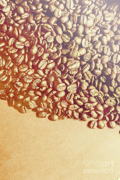 Vintage Wall Art - Photograph - Bean Background With Coffee Space by Jorgo Photography - Wall Art Gallery