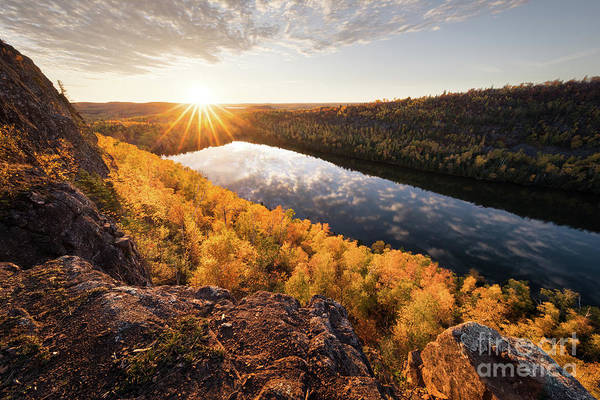 Northern Minnesota Wall Art - Photograph - Bean Lake Autumn Sunset by Ernesto Ruiz
