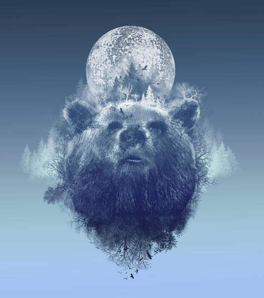 Grizzly Bears Digital Art - Bear 2 by Bekim M