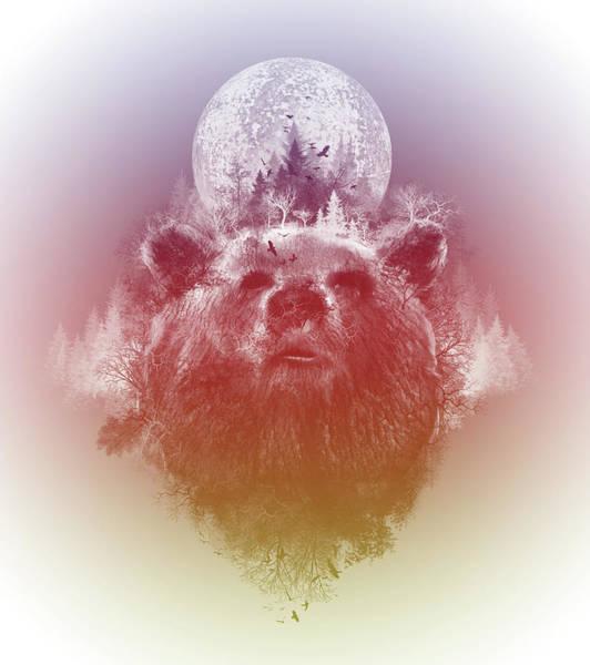 Grizzly Bears Digital Art - Bear 3 by Bekim M
