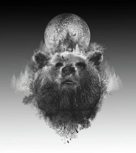 Grizzly Bears Digital Art - Bear by Bekim M