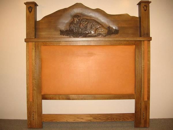 South Buffalo Mixed Media - Bear Butte King Bed by Honyocker Furniture