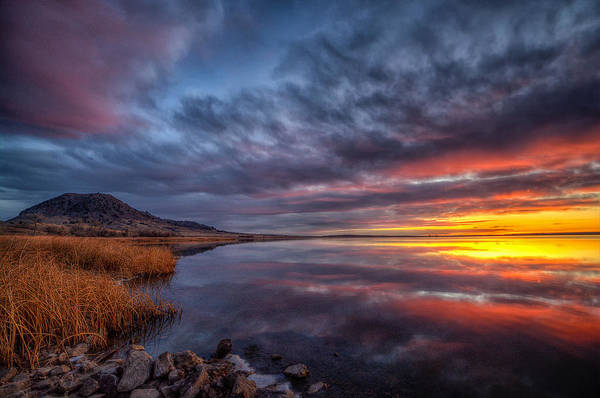 Photograph - Bear Butte Lake Sunrise by Fiskr Larsen