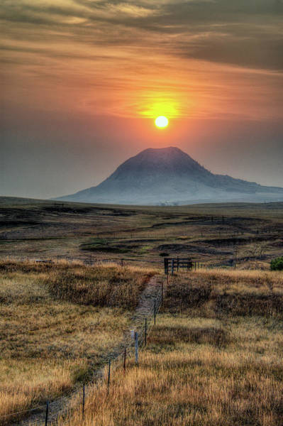 Photograph - Bear Butte Smoke by Fiskr Larsen