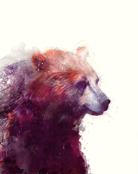 Fauna Wall Art - Painting - Bear // Calm by Amy Hamilton