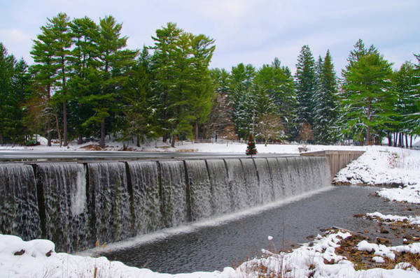 Wall Art - Photograph - Bear Creek Waterfall In The Snow - Pocono Mountains by Bill Cannon