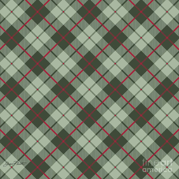 Diagonal Digital Art - Bear Crossing Plaid by Jean Plout