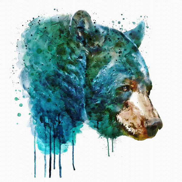 Zoology Painting - Bear Head by Marian Voicu