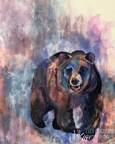 Painting - Bear In Color by Susan A Becker