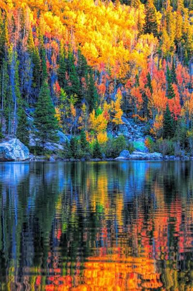 Photograph - Bear Lake Autumn Reflection by Dan Sproul
