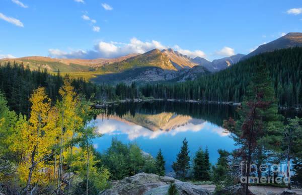 Fourteener Photograph - Bear Lake Reflection by Ronda Kimbrow