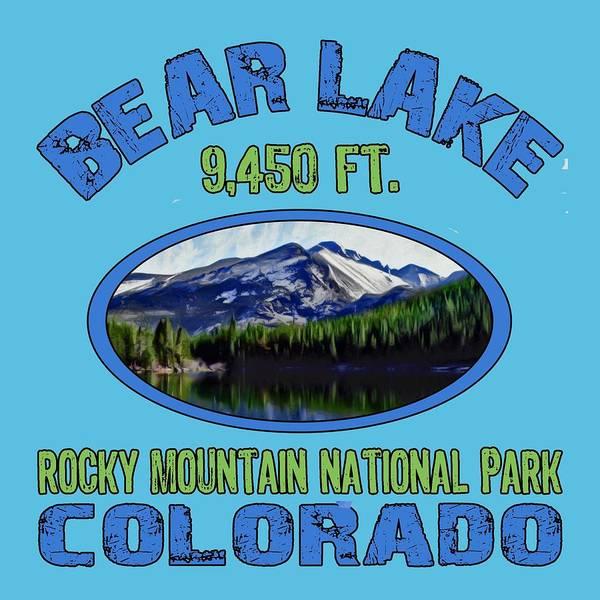 Wall Art - Digital Art - Bear Lake Rocky Mountain National Park Colorado by David G Paul