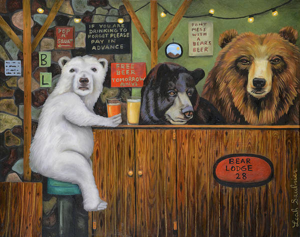 Painting - Bear Lodge 28 by Leah Saulnier The Painting Maniac