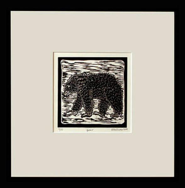Linoleum Mixed Media - Bear by Melissa Sullivan