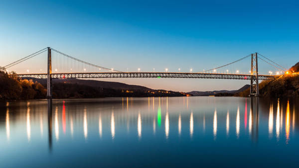 Photograph - Bear Mountain Bridge At Dusk. by Mihai Andritoiu