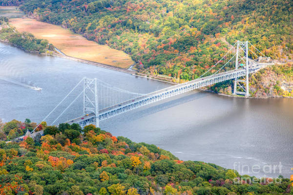 Photograph - Bear Mountain Bridge In Autumn by Clarence Holmes