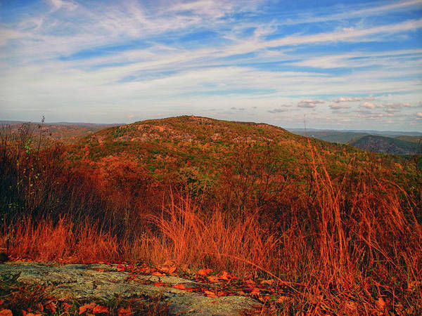 Photograph - Bear Mountain From West Mountain From At by Raymond Salani III
