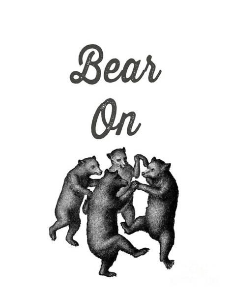 Happy Mixed Media - Bear On by Edward Fielding