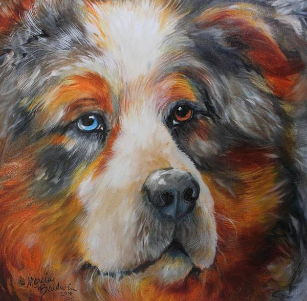 Painting - Bear The Catahoula Cur by Marcia Baldwin