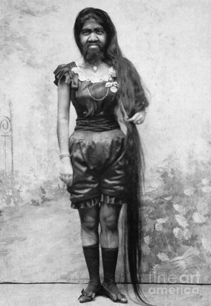 Photograph - Bearded Lady C1903 by Granger
