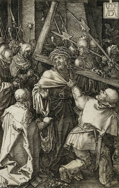 Albrecht Durer Wall Art - Relief - Bearing Of The Cross by Albrecht Durer
