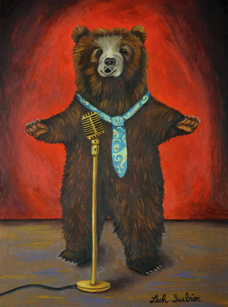 Opera Singer Painting - Bearitone by Leah Saulnier The Painting Maniac