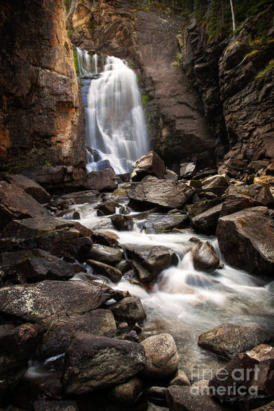 Photograph - Beartooth Falls by Craig J Satterlee