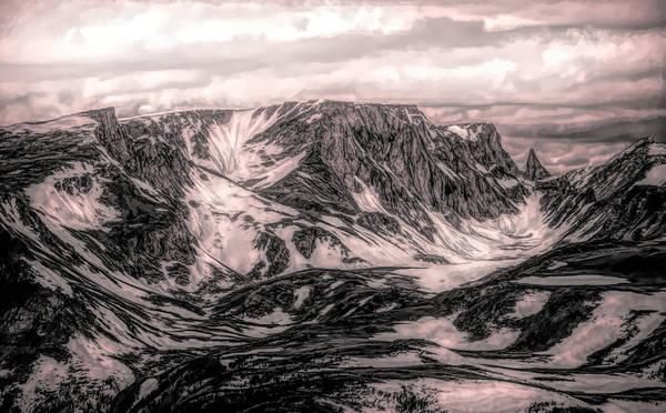 Mixed Media - Beartooth Mountain Range by Dan Sproul