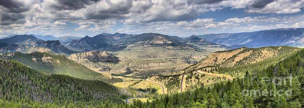 Photograph - Beartooth Mountains Panorama by Adam Jewell