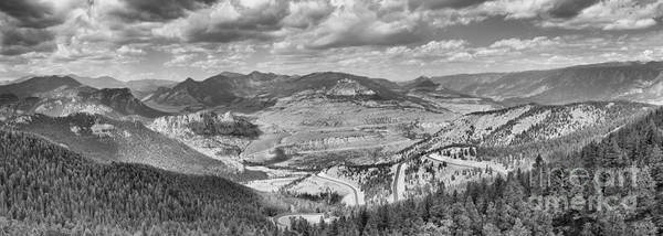 Photograph - Beartooth Mountains Panorama Black And White by Adam Jewell