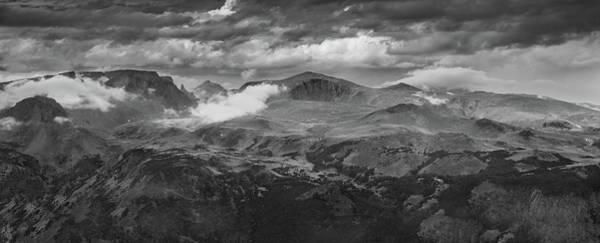 Wall Art - Photograph - Beartooth Mountains Wyoming B W by Steve Gadomski