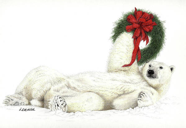 Mixed Media - Beary Christmas by Lorrisa Dussault