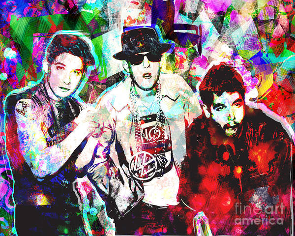 Rap Mixed Media - Beastie Boys Art by Ryan Rock Artist
