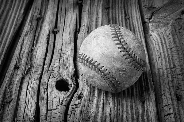 Memory Game Photograph - Beat Up Baseball by Garry Gay
