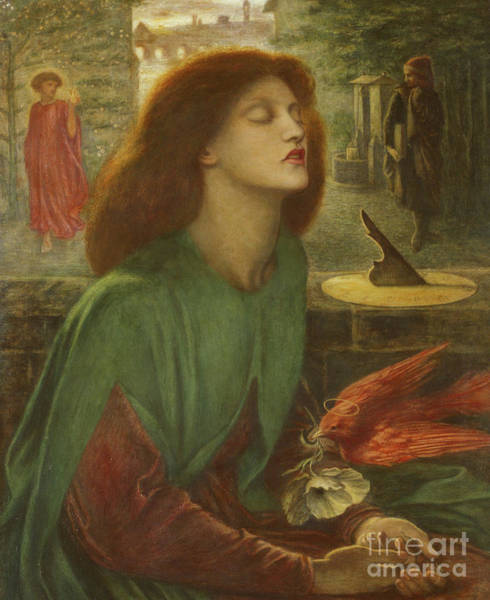 Poetry Painting - Beata Beatrix by Dante Gabriel Charles Rossetti