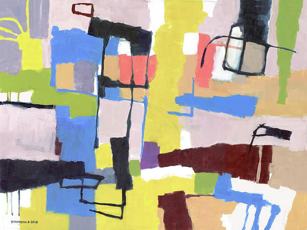 Gestural Painting - Beating The Heat by Douglas Simonson