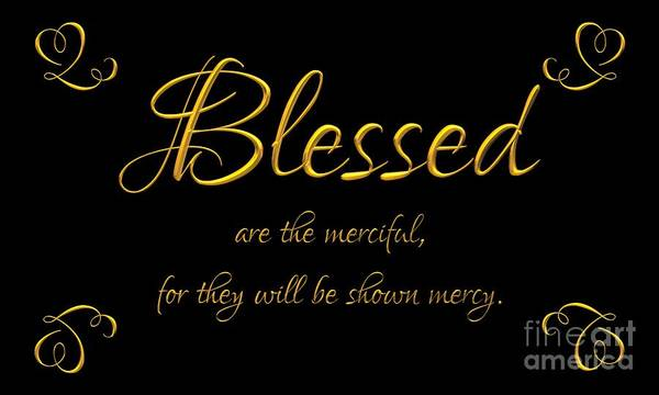 Digital Art - Beatitudes Blessed Are The Merciful For They Will Be Shown Mercy by Rose Santuci-Sofranko