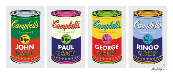 Painting - Beatle Soup Cans by Gary Grayson