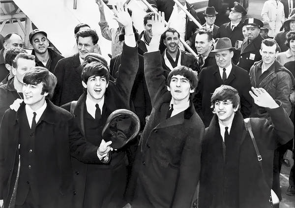 Wall Art - Digital Art - Beatles Arrive In New York  1964 by Daniel Hagerman