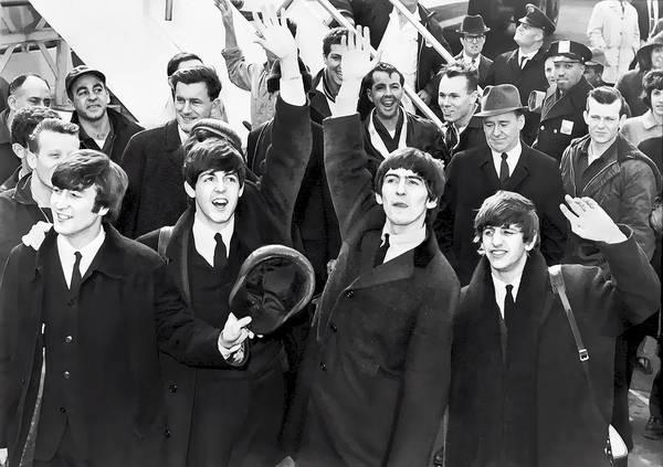 Wall Art - Digital Art - Beatles Arrive In New York  1964 by Daniel Hagerman